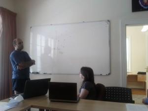 Kavilan Moodley explaining the kSZ effect.